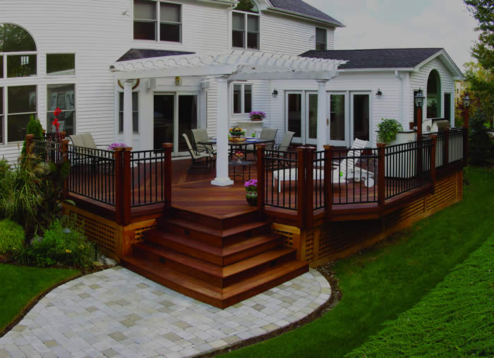 Wood Deck Example From Chicago Deck Builders